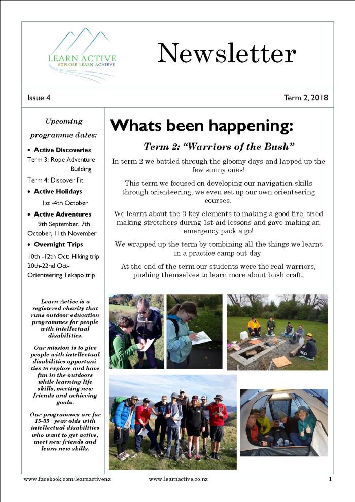 newletter Term 2 2018
